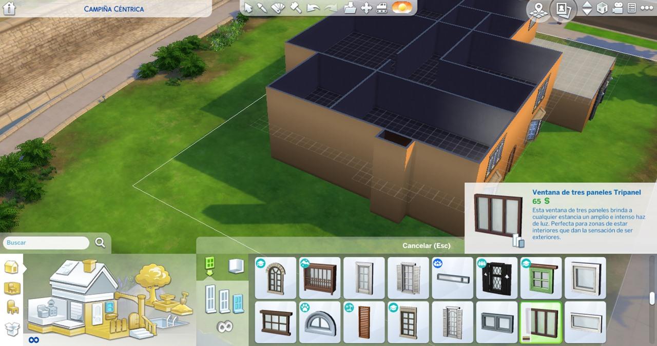 Three Panel Tripanel Window in The Sims 4