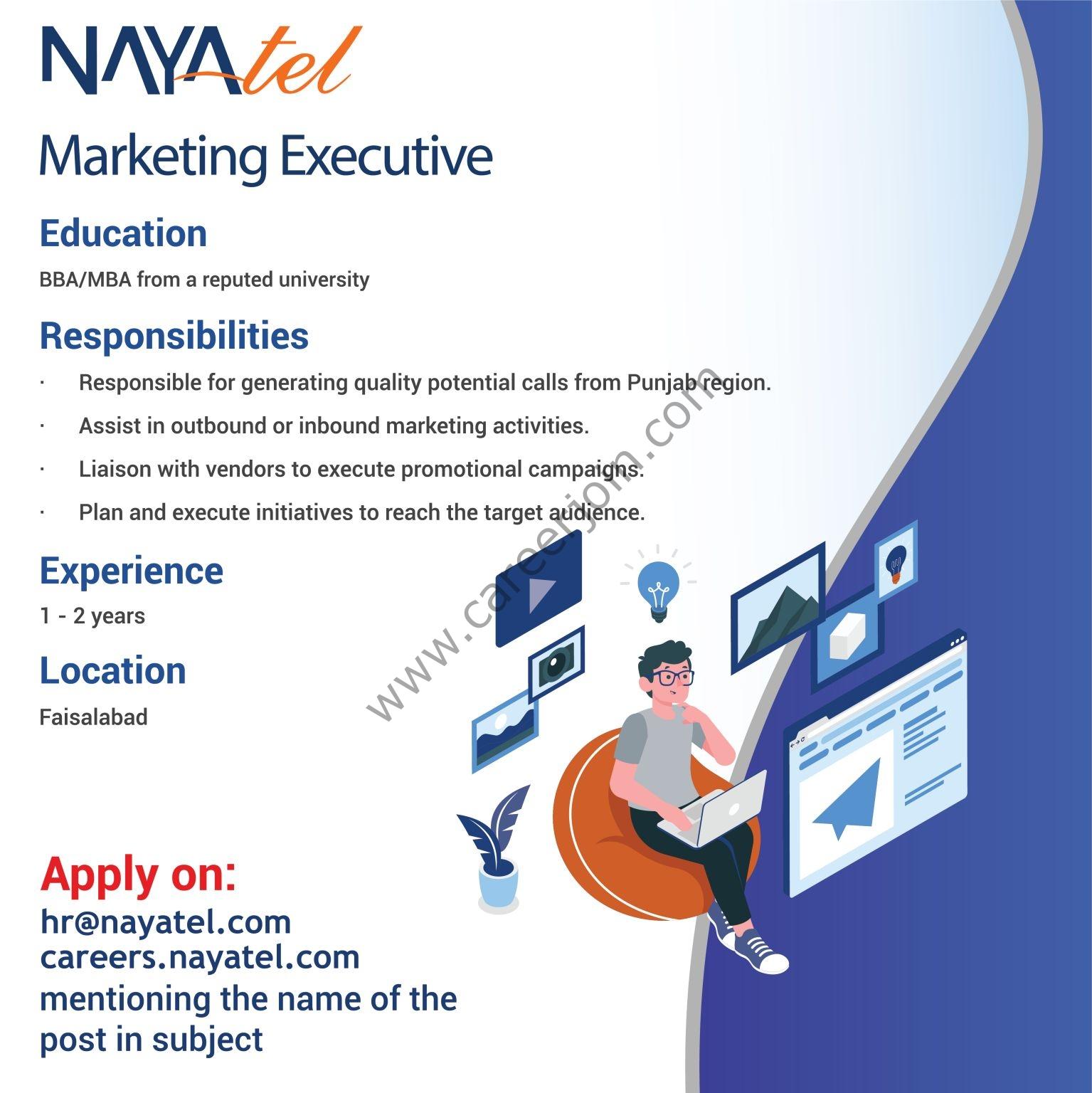 Nayatel Pakistan Jobs September 2021