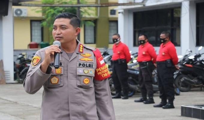 Program Pos Polah, Kapolresta Tangerang Pimpin Binlatkatpuan Anggota Dalmas