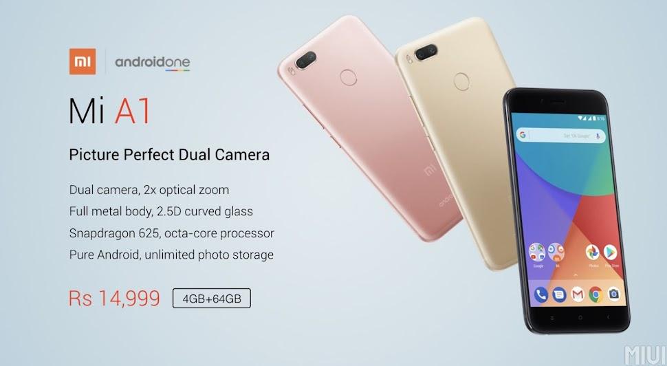 Android One Xiaomi Mi A1 Resmi Dirilis, Spesifikasi Kamera Ganda serta OS Android Murni