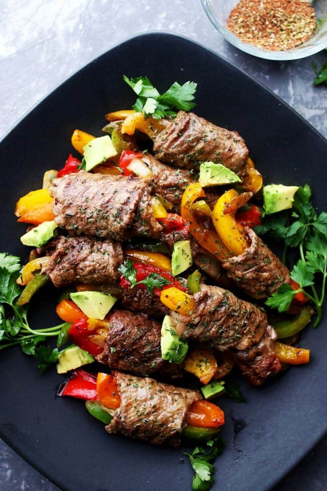 STEAK FAJITA ROLL-UPS