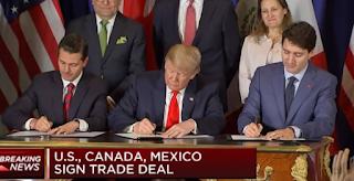 توقيع اتفاقية تجارية جديدة بين الولايات المتحدة وكندا والمكسيك