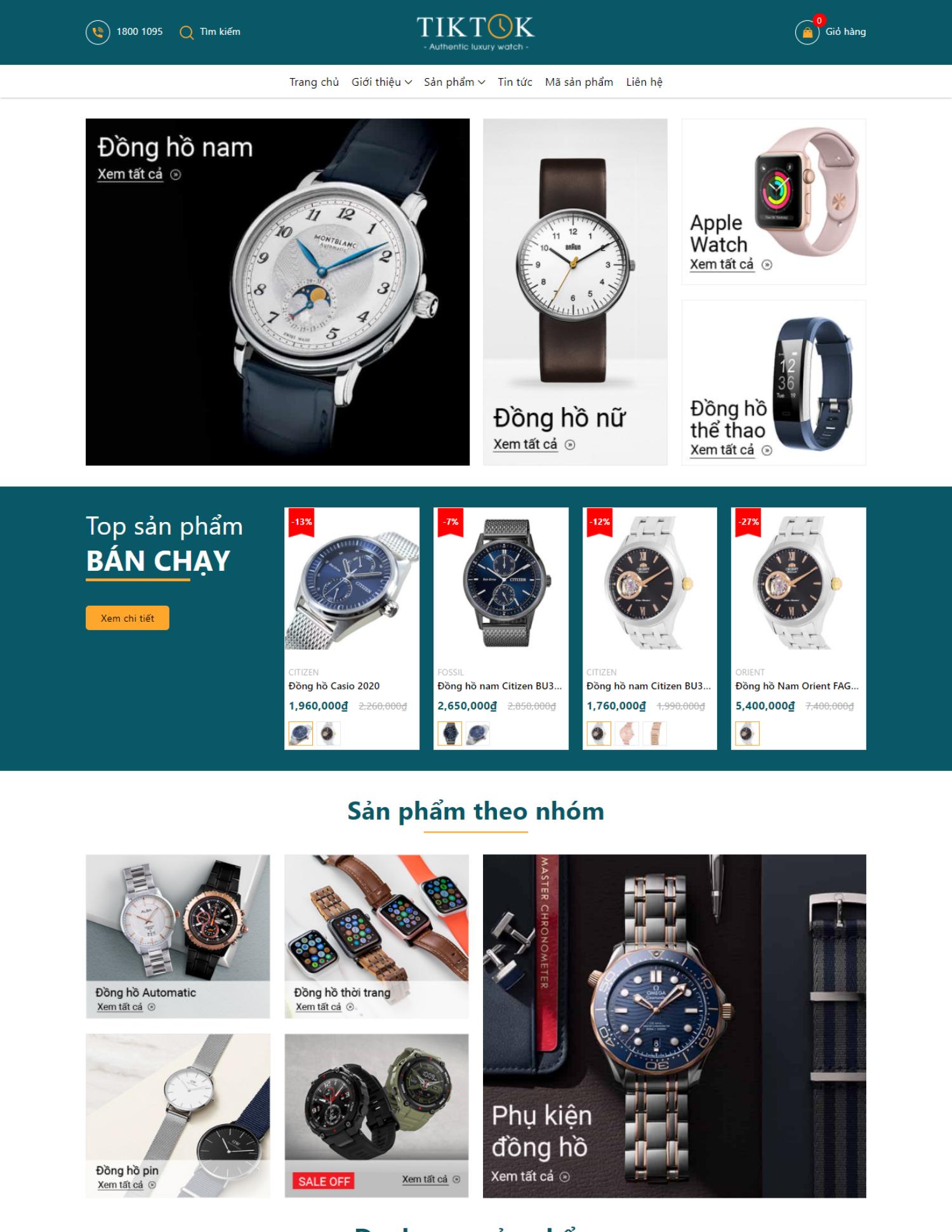 Theme blogspot bán đồng hồ kết hợp tiếp thị liên kết (VSM34)