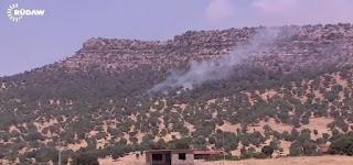 The airstrikes targeted Mount Asos