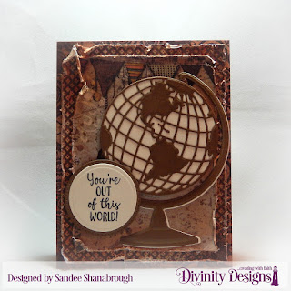 Divinity Designs Stamp Set: Color My World, Custom Dies: Globe & Stand, Circles, Pierced Circles Paper Collection:  Vagabond Treasures