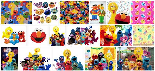 Sesame Street fabric items, Sesame Street crepe paper