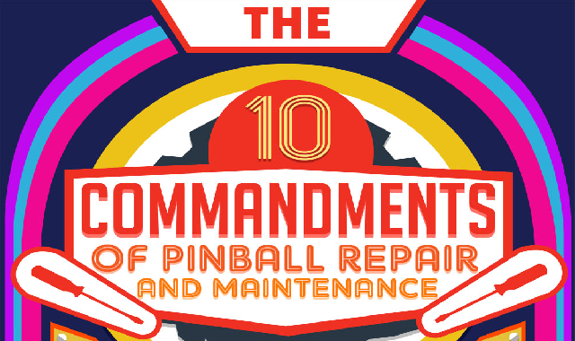 The 10 Commandments of Pinball Repair and Maintenance #infographic