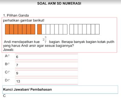 Contoh Soal AKM Numerasi Kelas 5 SD Lengkap dengan pembahasannya