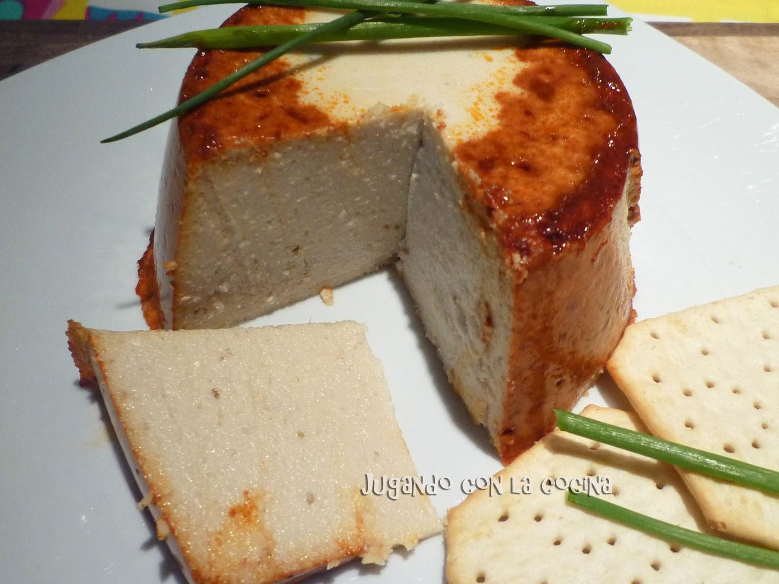 Jugando Con La Cocina Queso Vegano Duro Con Tofu Al Pimentón