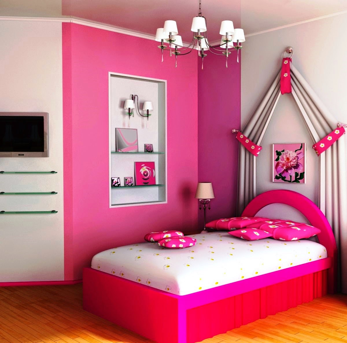 Girls Bedroom Cupboards Bedroom Color Ideas For Young Adults Elegant Bedroom Furniture Sets Cathedral Ceiling Bedroom: جديد ديكور وتصاميم غرف نوم بنات