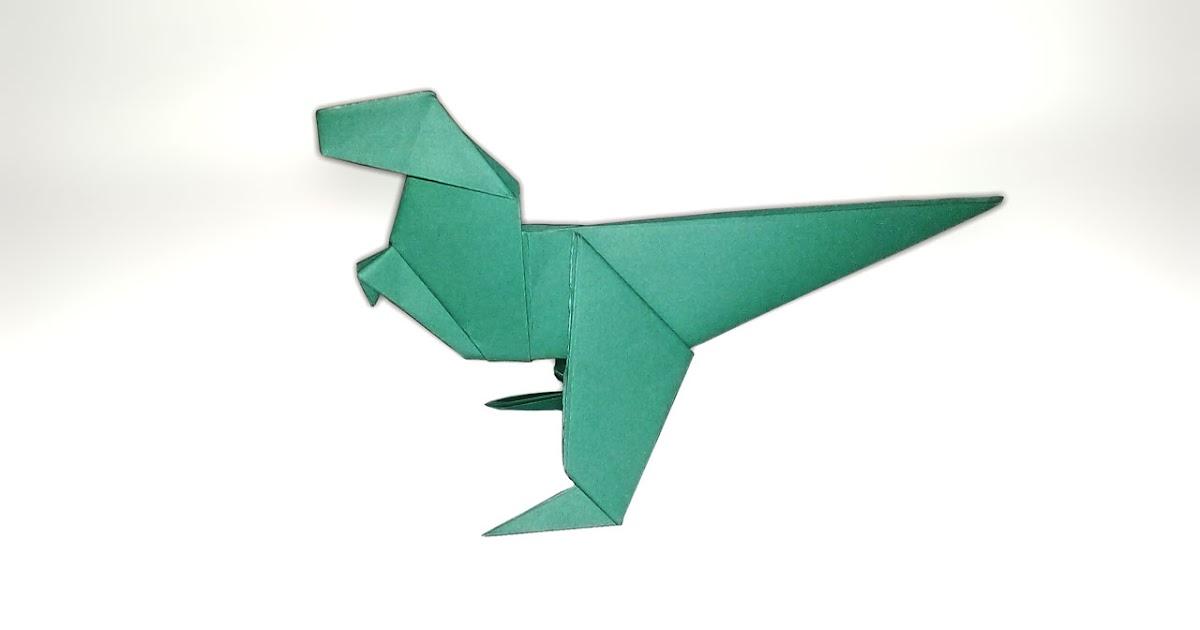 공룡 종이접기 Easy origami dinosaur t-rex - YouTube | 630x1200