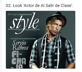 Sergio Ramos look al salir de clase