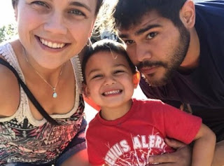 Kaitlyn Paevey clicking selfie with her husband Jimmy Vargas & their son