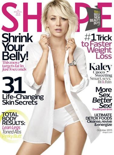 Kaley Cuoco Shape Magazine October 2015 cover photo