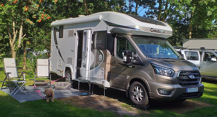 Exterior view Chausson 640 Motorhome