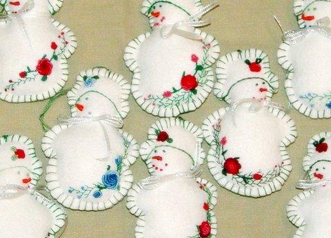 Kanelstrand: Felt Christmas Decorations