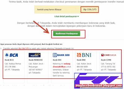 cara membayar toko online di tokopedia