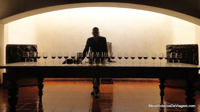 Degustação de vinhos na vinícola Concha y Toro - Chile