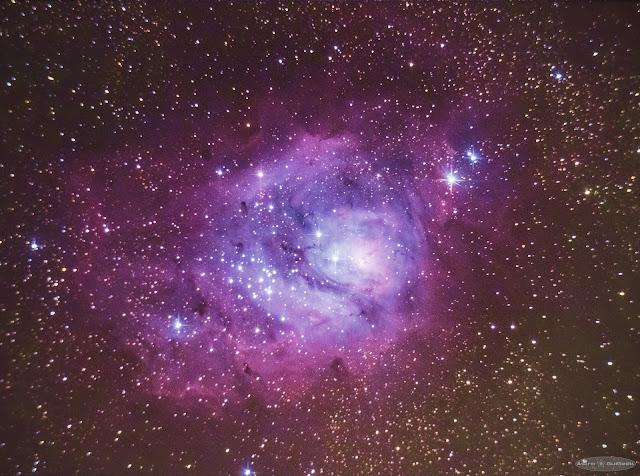 La Nébuleuse de la Lagune au télescope