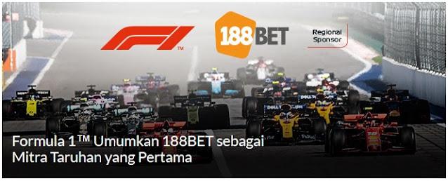 Formula 1 Resmi Gandeng 188BET sebagai Mitra Taruhan Online Pertama