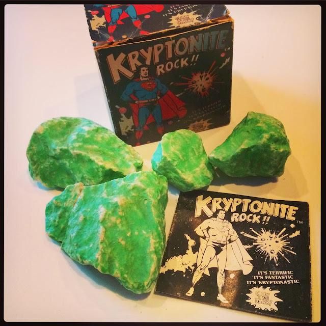 glow-in-the-dark Kryptonite rocks