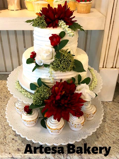 Brilliantly Beautiful Flower Wedding Cake by Mikayla Machlet of Artesa Bakery