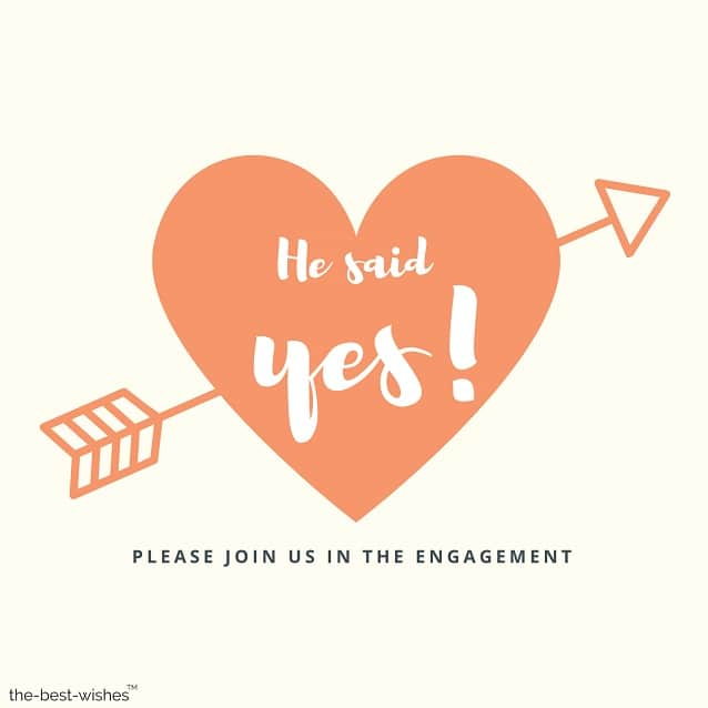 wedding engagement he said yes