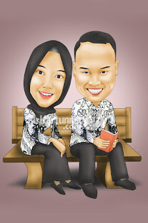Karikatur Guru Couple