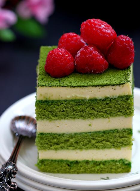 My Bare Cupboard Matcha Tiramisu Cake