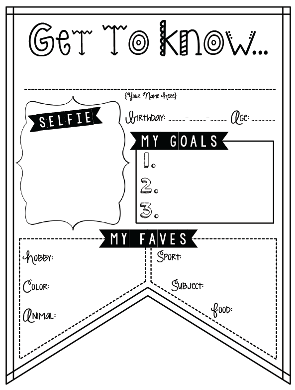 All Worksheets » Back To School Getting To Know You