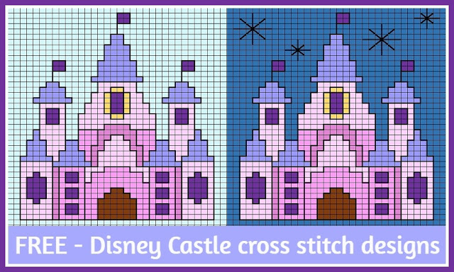 Free Disney Castle small cross stitch designs