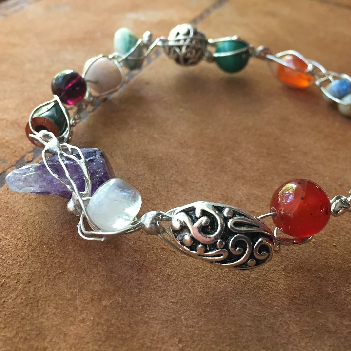 Bejeweled fairy ring bracelets by Laura Love, Emmaus PA.