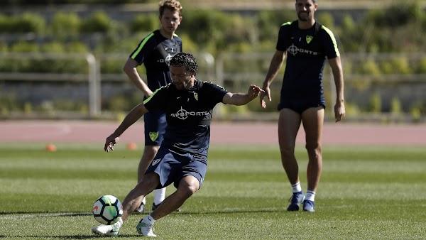 Málaga, mañana entrenamiento y rueda de prensa de José González