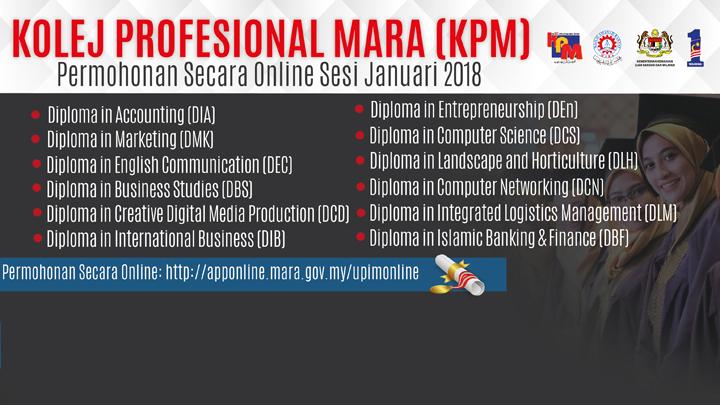 Cara Memohon Kolej Profesional MARA (KPM)