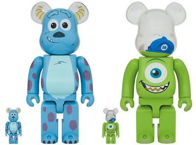 Monsters, Inc. Sulley & Mike Be@rbrick Vinyl Figures by Medicom Toy x Disney x Pixar