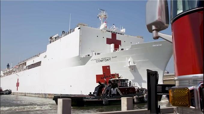 Barco hospital USNS Comfort enviado a Nueva York no atenderá contagiados por coronavirus