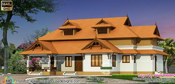 traditional front view house rendering