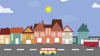 Gambar pemandangan kota kartun