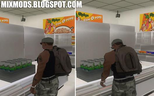 gta sa mod cleo mochila backpack mod