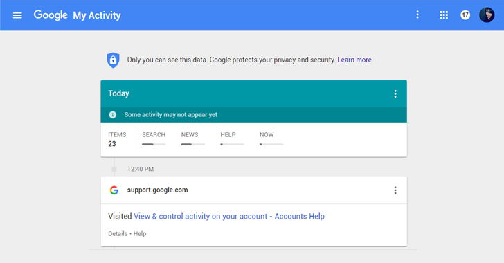 Check 'My Activity' to Know How Much Google knows about you