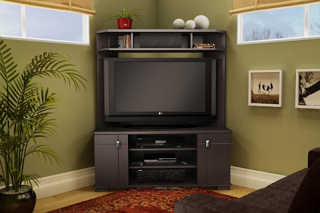 Cool And Modern Corner Tv Units For Living Room