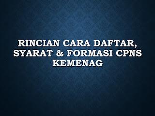 Rincian Cara Daftar, Syarat & Formasi CPNS Kemenag