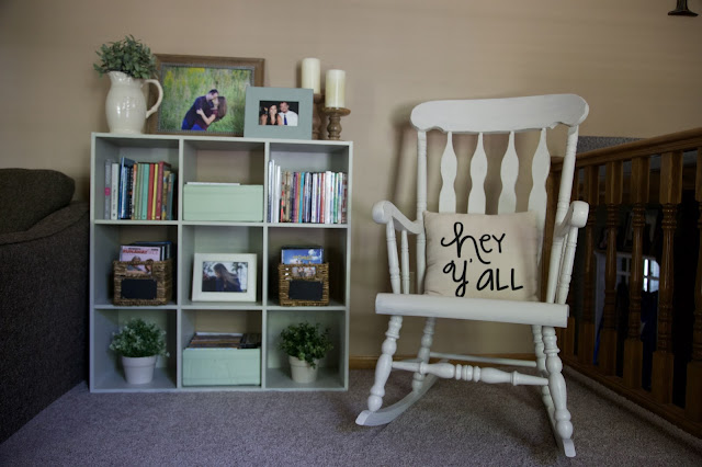 White Rocking Chair, Ikea Shelving