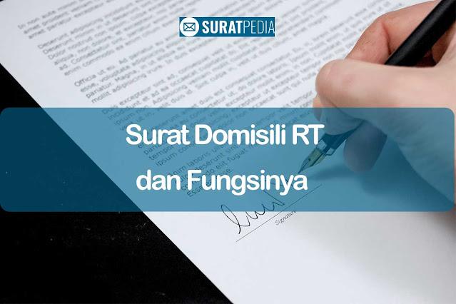 7+ Syarat Surat Domisili RT dan Fungsi Untuk Berbagai Keperluan