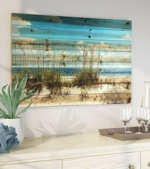 Beach Scene Wood Wall Art Decor Idea