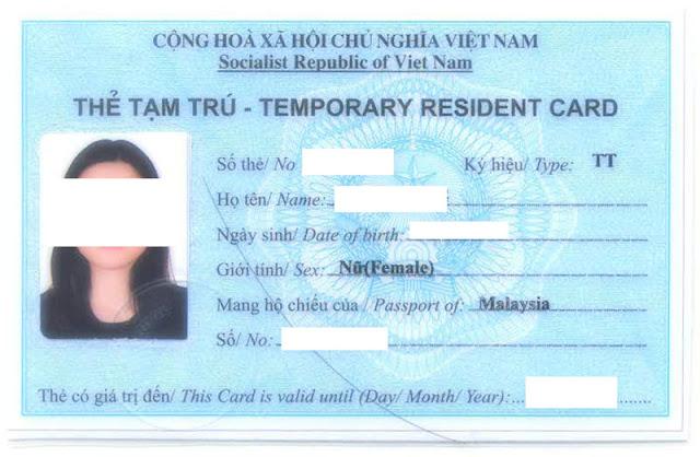 Dịch vụ làm thẻ tạm trú cho người nước ngoài uy tín