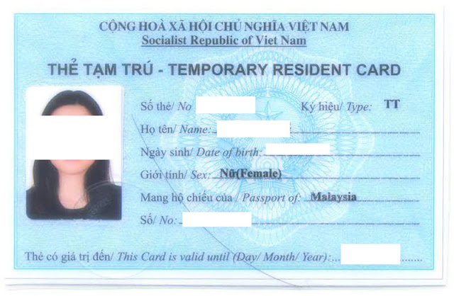 Get Vietnam temporary resident card very faster and easier