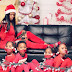 Mother of 4 trend online after she tie up her kids, sealed their mouths for beautiful Christmas photo