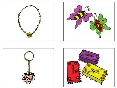 hiasan kalung, gelang, bros, gantungan kunci, dan hiasan tempat tisu www.simplenews.me