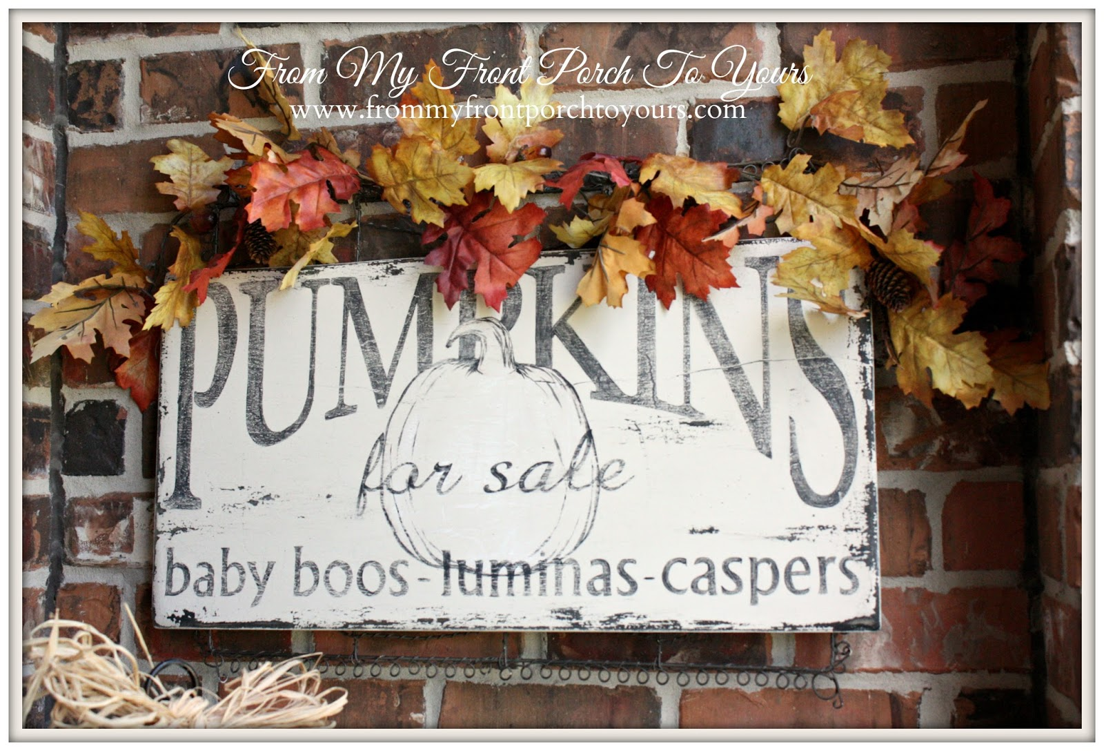 From My Front Porch To Yours- Falling For Fall Porch Party- Pumpkin Wood Sign